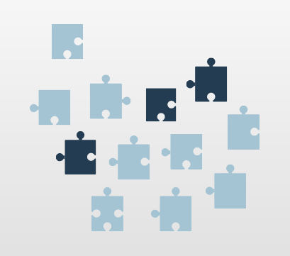Bad data quantity visualized with puzzle pieces